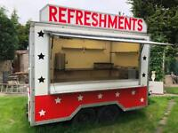 10ft Wilkinson catering trailer/ burger van, cafe, showmans style, quality build great business