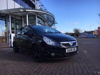 2008 Vauxhall Corsa d 1.2 sxi (NEW SHAPE) 75k REVERSE SENSORS BLACK ALLOYS LONG MOT