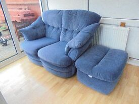 2-Seater Sofa and Poufee - Upper Stratton SN2
