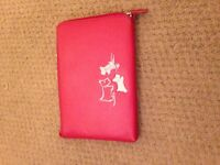 Red Leather Radley Wallet/Document Holder/Purse