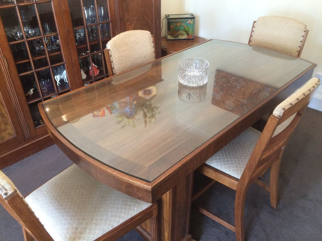 Art Deco Dining Table And 4 Chairs Wylie Lochhead Glasgow