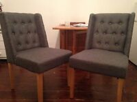 Brand New Chairs in dark grey, 2 available