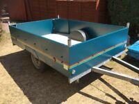 "Large trailer 7' long x 4' 9"" wide, excellent condition."