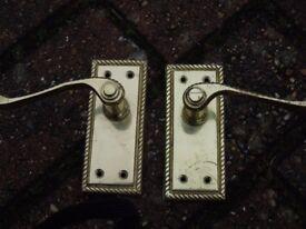 Brass effect door handles