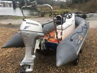 RIB BOAT AVON SEARIDER 4.0 MTR HONDA 4STROKE ON TRAILER