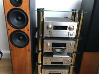 Teac hifi system with speakers and stand