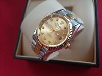New Swiss Rolex Date Just 2 Tone for sale!