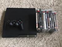 PS3 slim 250gb + 11 games