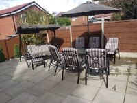patio set x6 chairs