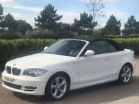 BMW 1 SERIES 2.0 118D SPORT 2d 141 BHP CONVERTIBLE (white) 2009