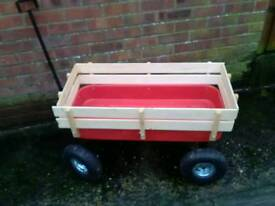 Excellent condition Garden Trolley cart tools four wheels handle
