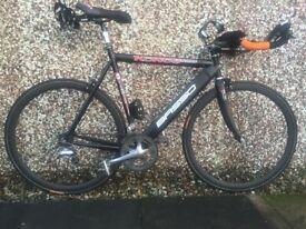 "Bassso Light and Stiff Aluminium Time Trial / Triathlon / road bike. Would fit 5'10' – 6'3"""