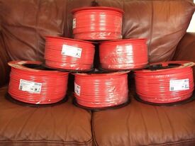 FP200 GOLD PRYSMIAN 100M 1.5mm 2 CORE & EARTH RED FIRE ALARM CABLE. *NEW+SEALED*
