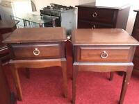 Stag Minstrel bed side cabinets