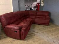 HARVERY SUEDE FABRIC GOVENOR FULLY RECLINER CORNER SOFA REAL NICE COMFY
