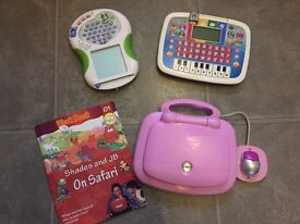 V-tech tablet and laptop & Leapfrog scribble and write