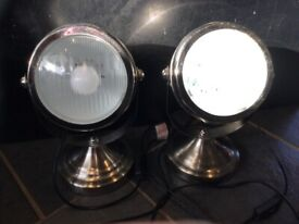 Car headlight table/Desk/Bedside lamp. X 2