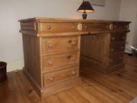 large antique pine desk