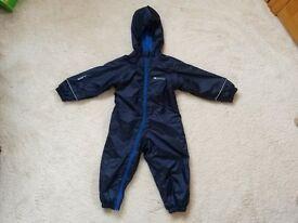Mountain Warehouse Fleece Lined Rain Suit - Worn twice - 18 - 24 m