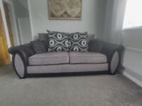 Grey & Black sofa