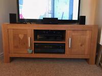 Lyon Oak (solid) large TV unit