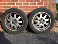2 No. Alloy wheels from Jaguar x-type