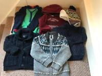 Bundle boys warm winter clothes. Jumpers. Hat. Age 2-3 Years