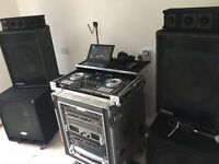 Pioneer DDJ SX + Flight Case + i7 Sony laptop + Amps rack with speakers
