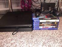 Play station 4 with 6 games