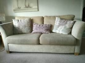 3 Seater sofa, armchair and footstool