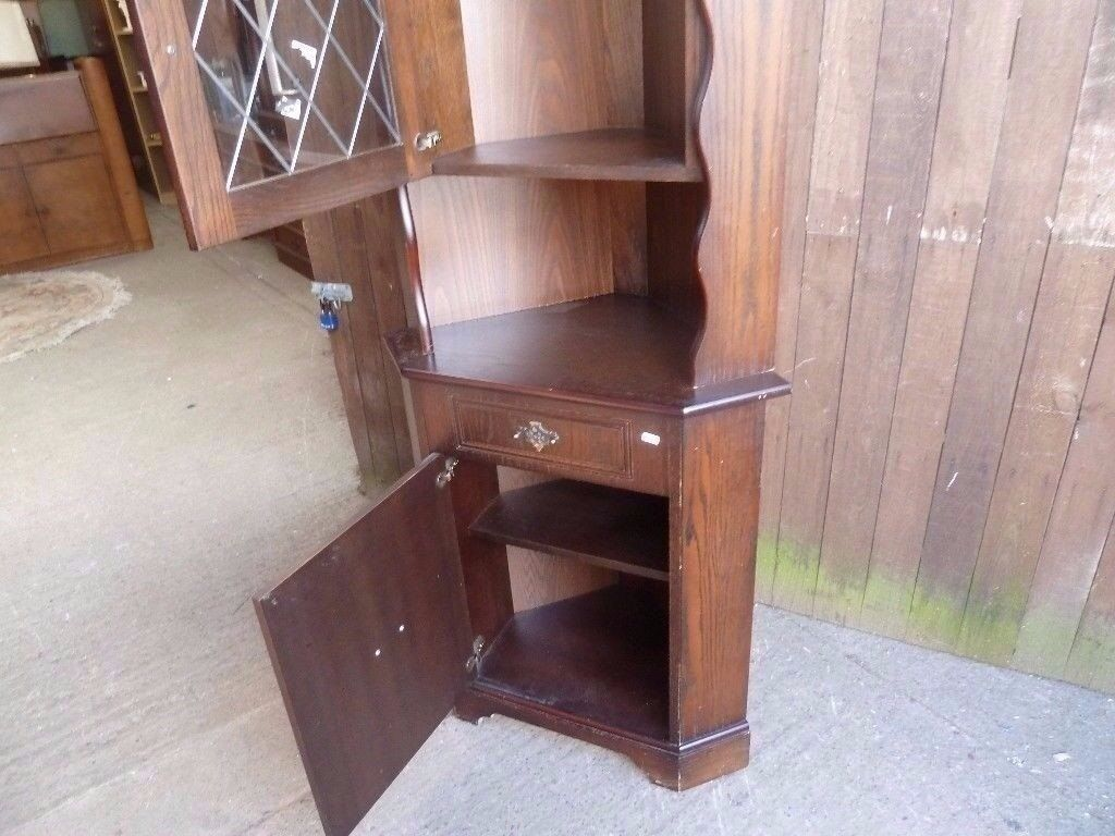 Display cabinet corner unit With Glass Door Front Delivery Available £10