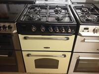 Cream /Black 60cm gas cooker