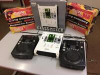 Cd decks and mixer