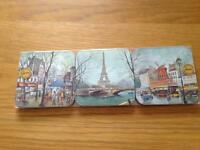 NEW Paris scene coaster set (6 piece)