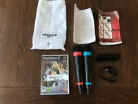 Playstation 2 Singstar set with 2 wireless controllers all in excellent working condition.