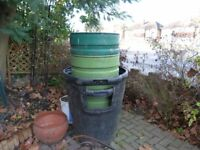 Composter and Bins (4 of them)