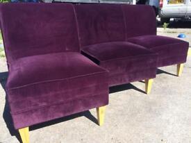 3 purple chairs