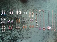 Lots of costume jewellery - earrings, necklaces and brooches