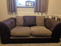 Brown 2 seater sofa Collection Only