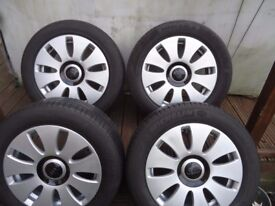 16 x 4 Alloyls and Tyres VW T- 4 VW Caddy AUDI A3 A4 A5 PCD 5x112