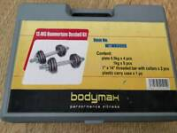 Weights dumbells set with storage carry case 13.4kg