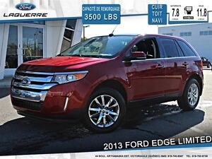 2013 Ford Edge **LIMITED*AWD*CUIR*TOIT*NAVI*CAMERA*CRUISE*A/C**
