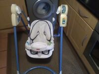 Portable baby swing chair plays music
