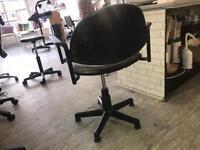 4 black salon seats