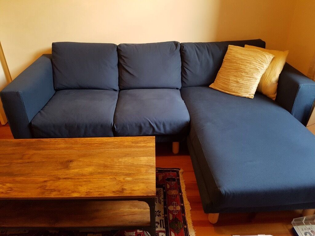 Lovely two seat sofa with chaise lounge less than a year for 2 seater lounge with chaise