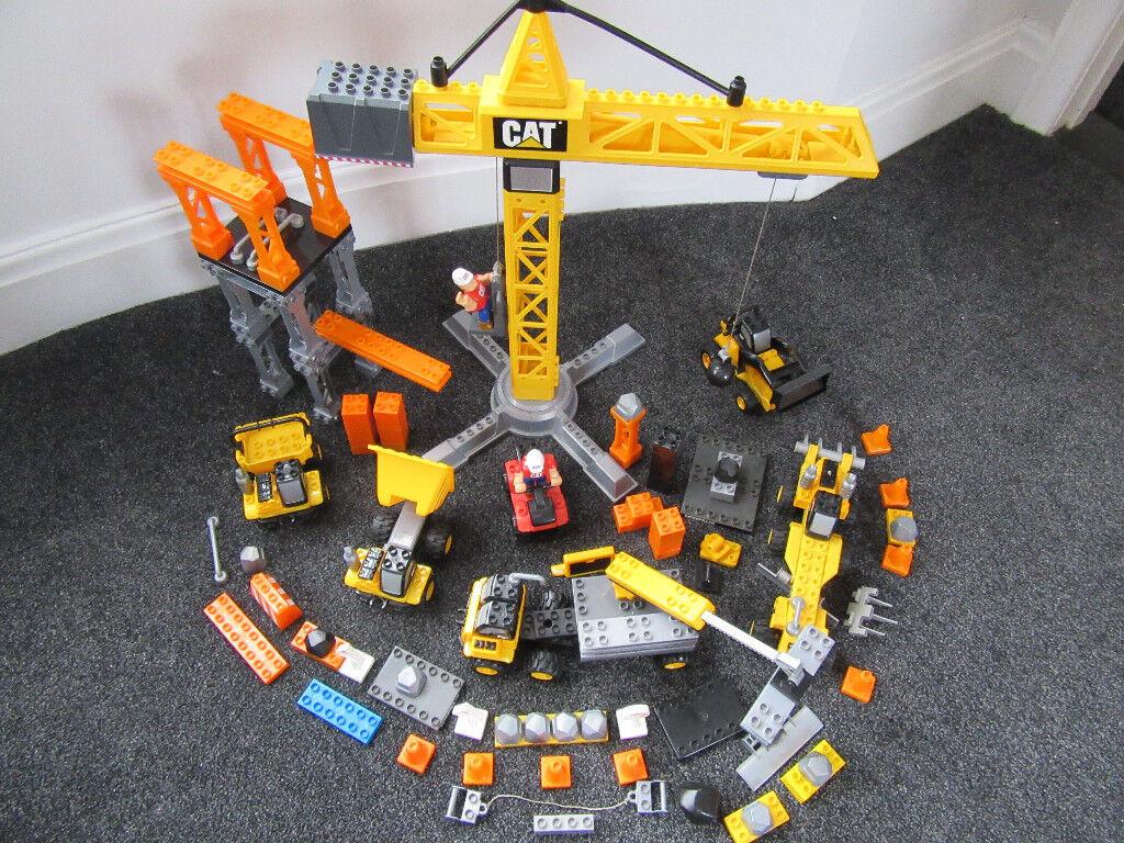 Massive Bundle Of Cat Construction Mega Bloks Crane Vehicles