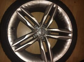 AUDI S5 ORIGINAL 5 SPOKE S LINE WHEELS(all 4) WITH FAIRLY NEW TYRES