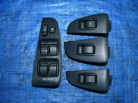 Left hand drive EU type window switch console set Toyota Avensis T25 2003 - 2008 LHD