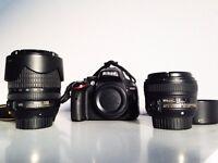 Nikon d5100 +18-105mm f/3.5-5.6 +Nikon 50mm f/1.8G.