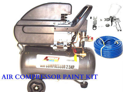 Air Compressor 6 Gallon | HVLP Spray Gun1.4 | 50ft Air Hose | Quick Air Fittings